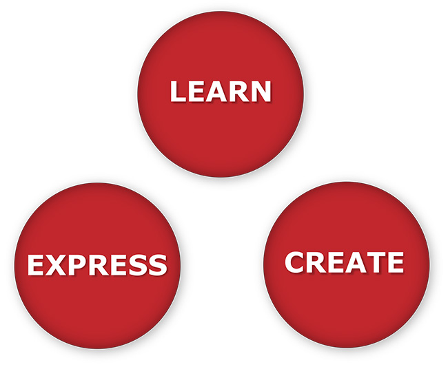 Learn, Create, Express