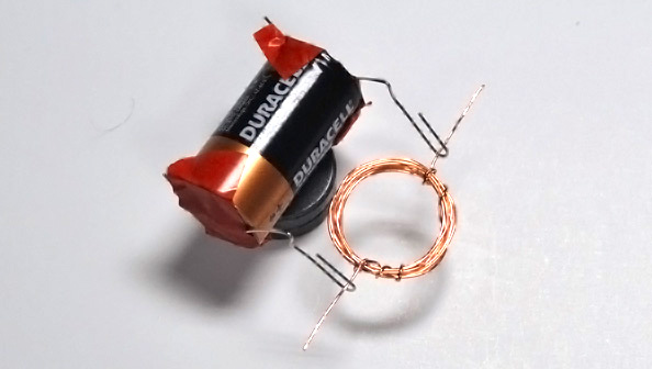 Coil The Magnet Wire Around A C Cell Battery About 10 Times