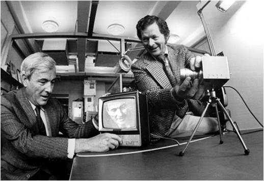 George Smith and Willard Boyle, the inventors of the charged coupled device (CCD)
