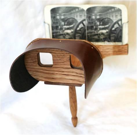 Handheld Holmes-type Stereoscope