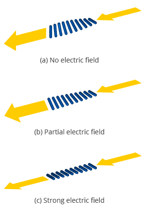 Effect of liquid crystals on light polarization